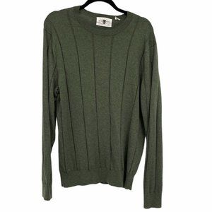 Black & Brown 1826 Green lined crew neck sweater